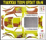 Yellow Rusted Speed Shop Themed Vinyl SKIN Kit & Stickers Fits R/C Traxxas TRX4 Sport Rock Crawler